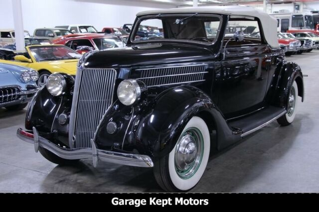 1936 Ford Club Cabriolet Black Convertible 221ci Flathead V8