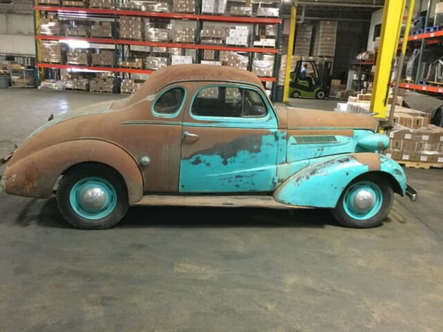 1937 Chevy Coupe All Original All Steel Gasser Rat Rod