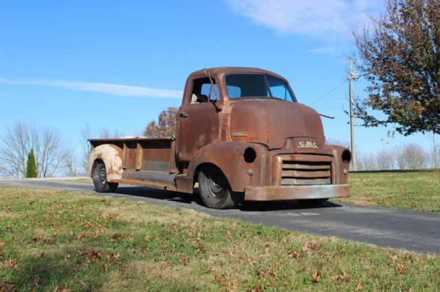 1951 gmc coe cabover hauler patina rat hot rod shop truck slammed ls power chevy classic 1951. Black Bedroom Furniture Sets. Home Design Ideas