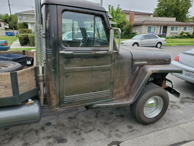 1952 willys jeep overland pickup truck turbo diesel rat rod
