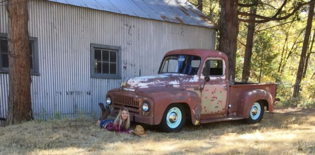 1953 International L110 Shortbed Farm Truck, Patina, Shop