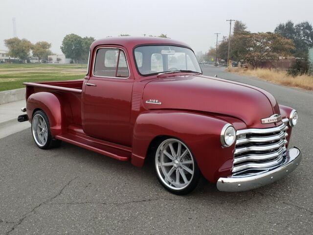 1954 Chevrolet 5 window 3100 truck Full Pro Touring ls3 show