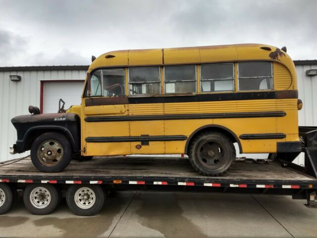 1955 CHEVROLET 4100 SHORT SCHOOL BUS, HOT ROD PROJECT GREAT