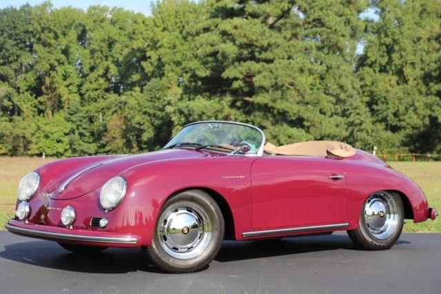 1957 PORSCHE 356 SPEEDSTER CONVERTIBLE BECK #271 6K MILES LIKE NEW