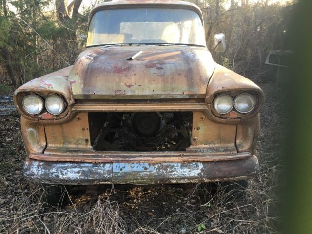 1958 Chevy Apache Fleetside Pick Up Truck Chevrolet Classic Truck W