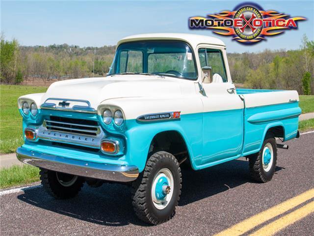 1959 Chevrolet 3100 Apache Fleetside 4x4 Pickup Classic 1959