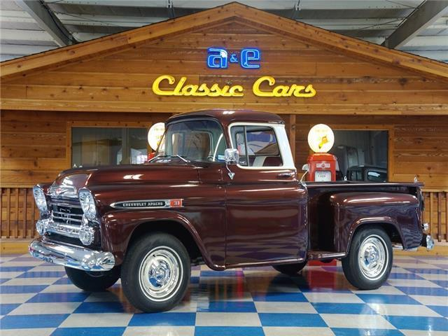 1959 Chevrolet Apache 3100 Fleetside Pickup Burgundy Metallic