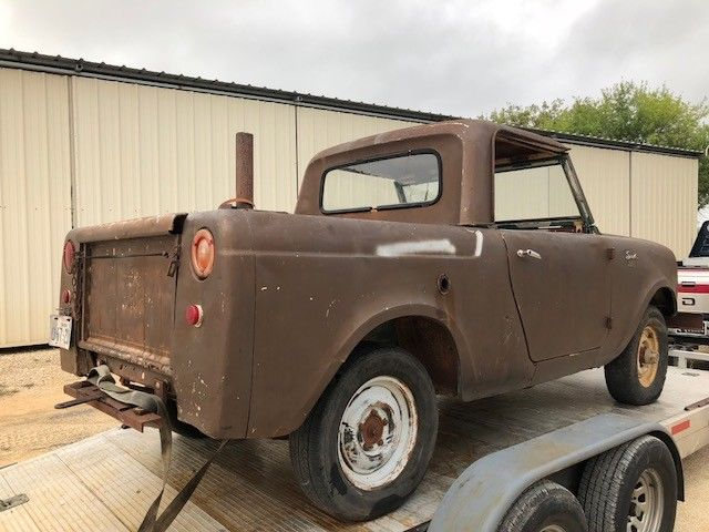 1961 INTERNATIONAL SCOUT 4X4 HALF CAB, RESTORE OR NICE PARTS