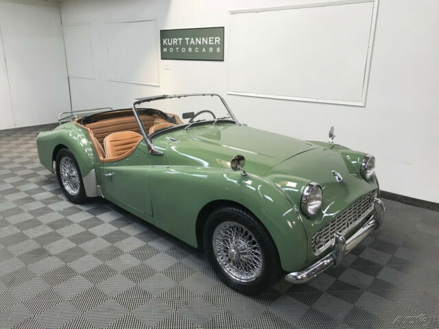 1961 Triumph Tr3a Sports Roadster Green With Tan Interior Black