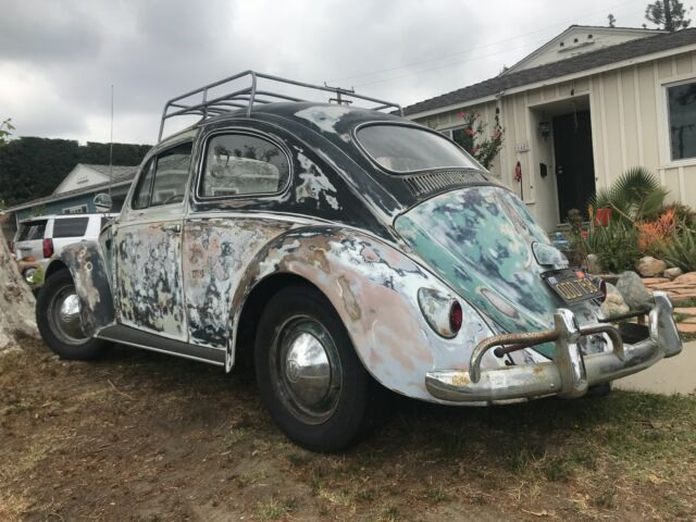 1961 volkswagen beetle patina original 1200 air-cooled vw classic bug