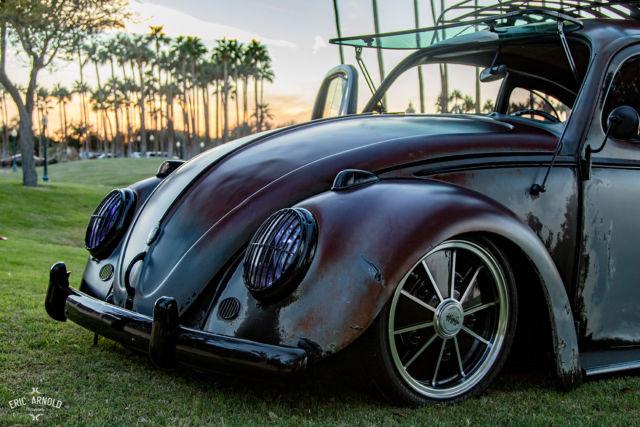1962 Volkswagen Beetle Air Suspension  Satin Clear Over