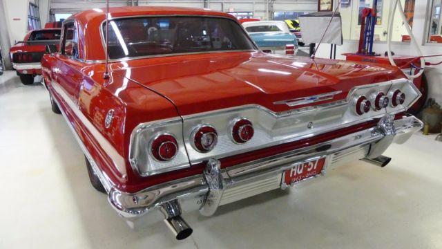 1963 chevrolet impala ss 54821 miles red 2 door hardtop 409 manual 4 speed classic 1963. Black Bedroom Furniture Sets. Home Design Ideas