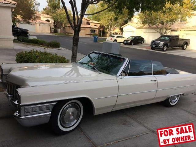 1965 Cadillac Deville Convertible Rebuilt 429 Engine Leather Rare