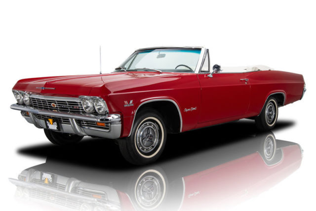 1965 Chevrolet Impala SS 1363 Miles Regal Red Convertible