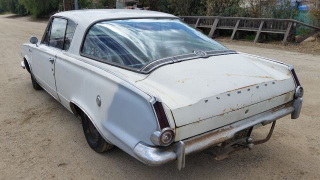 1965 Plymouth Barracuda white, w/slant 6, automatic
