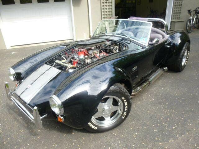 1966 Cobra, West Coast Dreams kit car, black/silver stripe