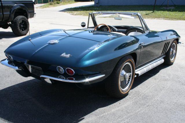 1966 Corvette Convertible 427/425HP Off Frame Restoration Original ...