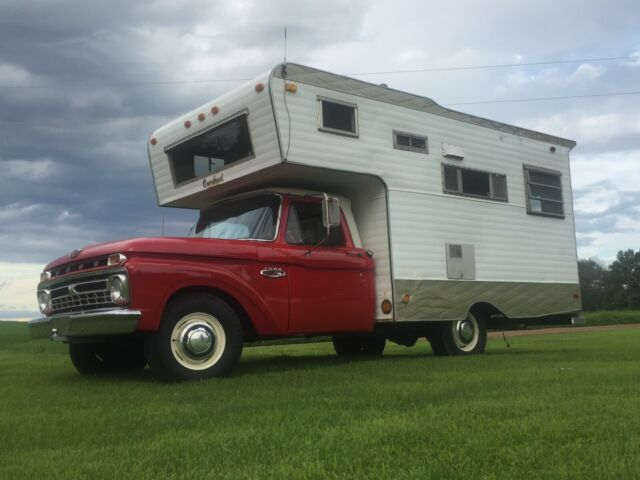 1966 FORD F 250 RARE FACTORY OVERLAND CAMPER OPTION  LOW