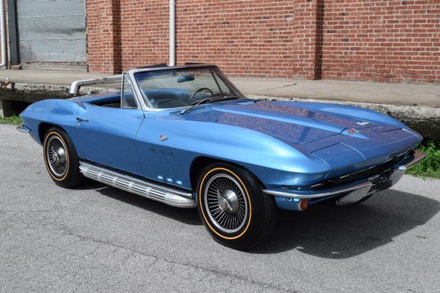 1966 Nassau Blue Corvette Convertible - Classic 1966