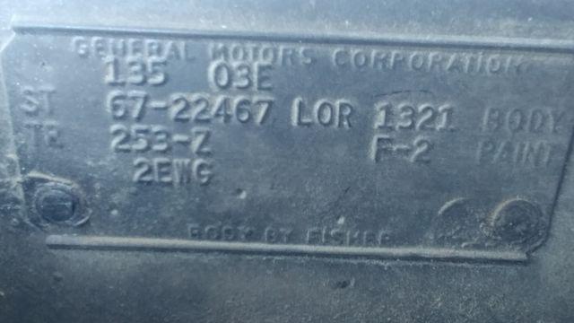 1967 Pontiac Firebird Convertible 400 A/C Pwr Steering - YS Block
