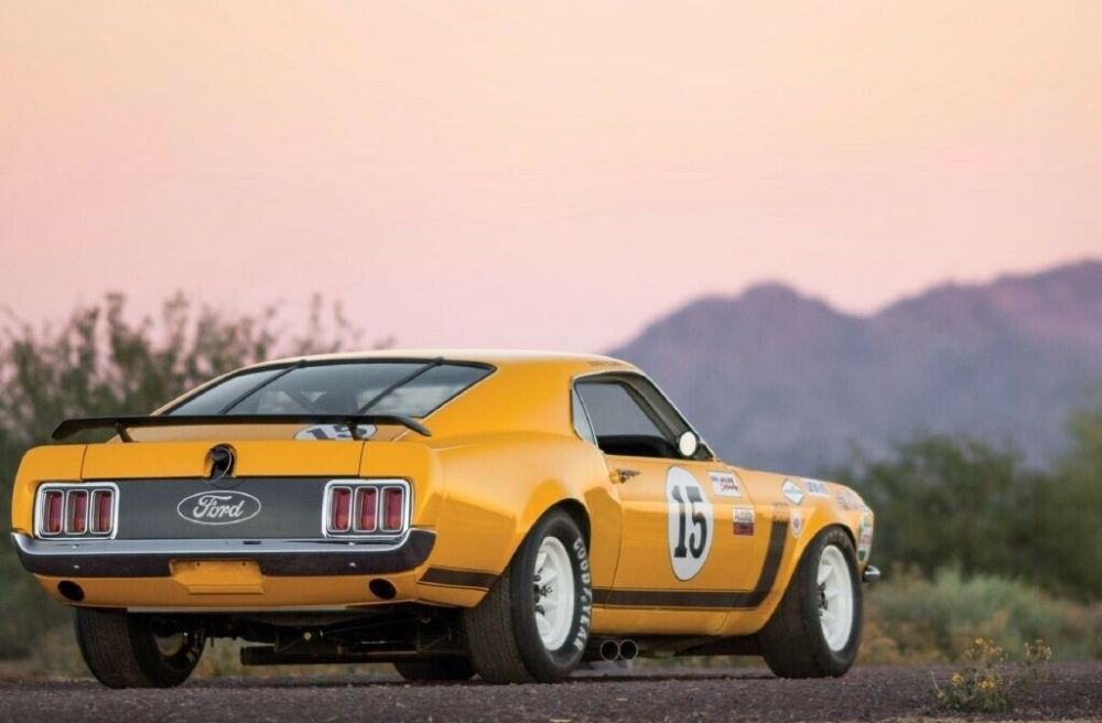 trans race am mustang 1970 ford boss orange manual speed moore miles bud body type classic transmission