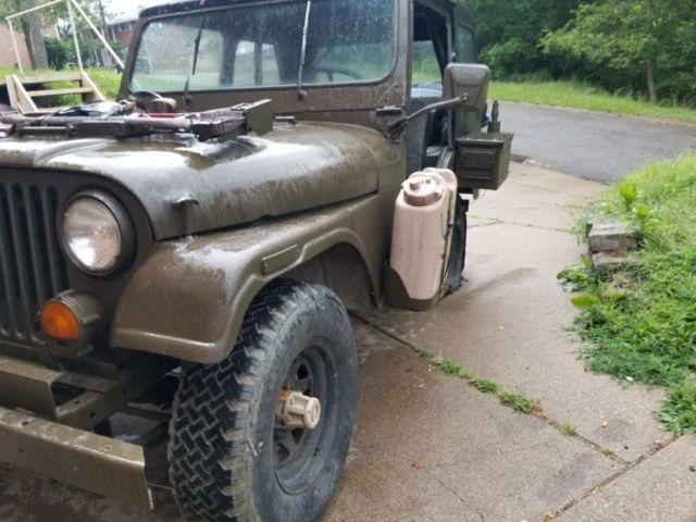 1971 cj5 jeep no reserve 225 v6 3 speed fiberglass tub cj7 4x4