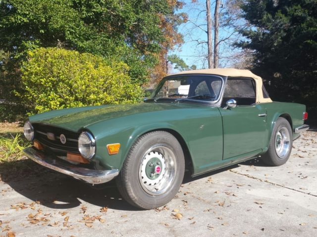 1971 Triumph TR6 Roadster British Racing Green - Classic