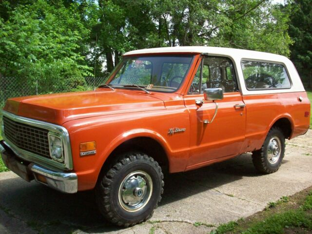 1972 chevrolet blazer k5 4x4 68,000 miles parts restore runs good has rust  chevy