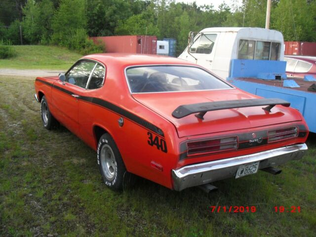 1972 Plymouth 340 4 Speed Duster, real factory orange H ...