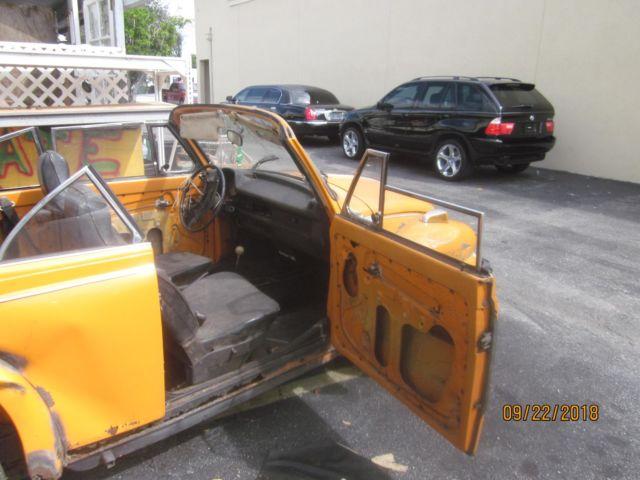 1973 VW SUPER BEETLE CONVERTIBLE RESTORATION OR PARTS CLEAN