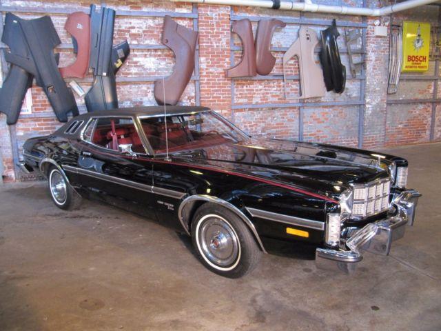 Ford Gran Torino Elite  Original Miles Black With Red Interior