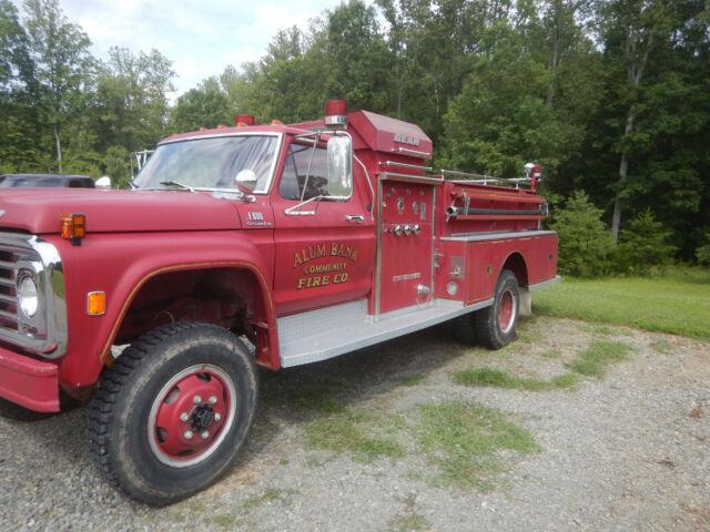 1975 Ford F600 4x4 Fire Truck Pumper