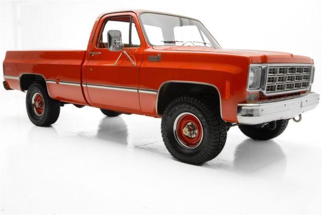 1977 chevrolet custom deluxe big red k10 4x4 4 spd manual pickup rh mfpclassiccars com 1986 Chevrolet 1984 Chevrolet