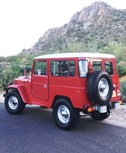 1977 Toyota Land Cruiser FJ40 2F Freeborn Red Ambulance Doors