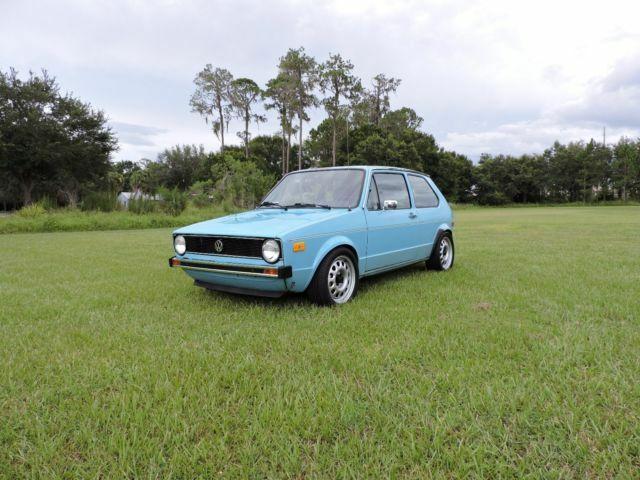1977 Volkswagen Rabbit 24v VR6 Miami Blue - Classic 1977 ...