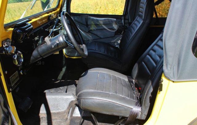 1978 Jeep CJ7 - New fiberglass Body, Galvanized Frame, New