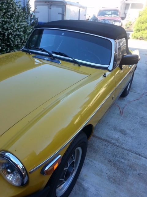 1980 MGB 78858 ORIGINAL MILES GARAGED SOLID BODY (M G