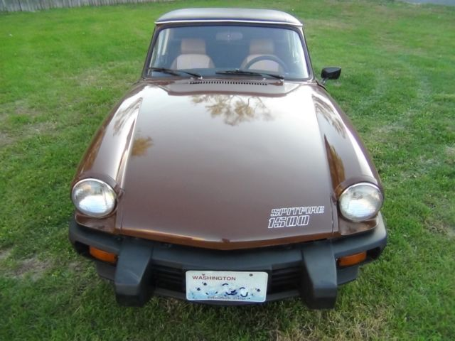 1980 Triumph Spitfire 1500 Rust Free Pacific Northwest Car Removable Hard Top