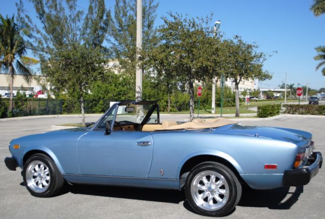 1981 fiat 124 spider cs2 convertible 2 0l 4cyl 5 spd manual clean rh mfpclassiccars com 1976 Fiat Spider 1979 Fiat Spider