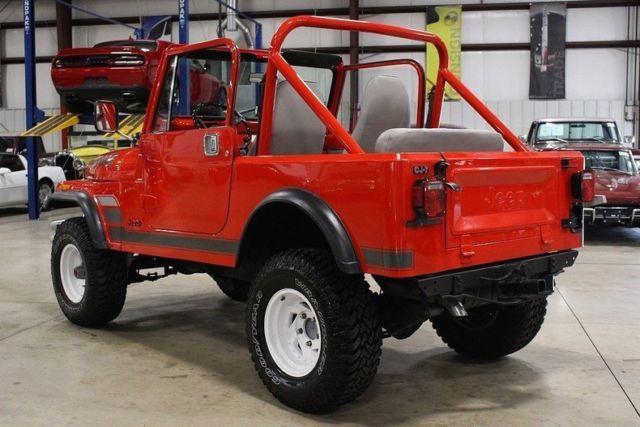 1981 Jeep CJ-7 44300 Miles Renegade Orange SUV 258ci I6 4