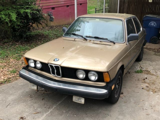 1982 BMW 320i E21 Cashmere Metallic (Gold) Rebuilt M10 Engine ...