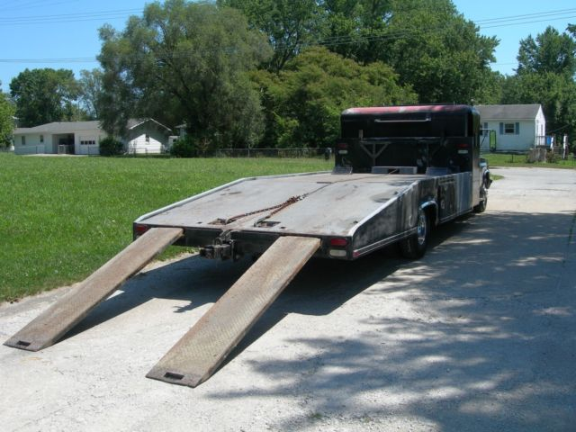 1983 CHEVROLET CAR HAULER HODGES BED w/WHEEL LIFT TOW TRUCK WRECKER