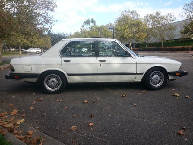 1985 BMW 535i E28 Alpine White M30B35 1 3 Motronic Engine E23 E24