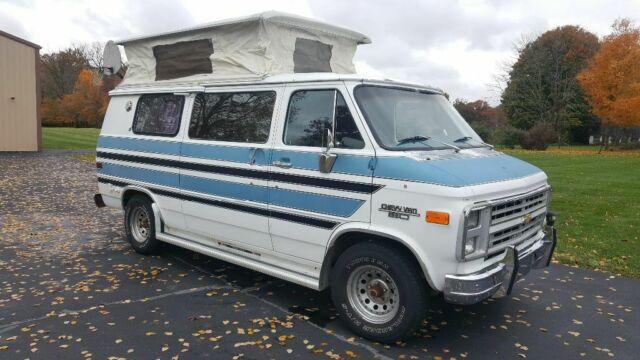 1985 Chevy G20 Campervan Pop Top Motorhome Rare Class B Volkswagen Pop Up