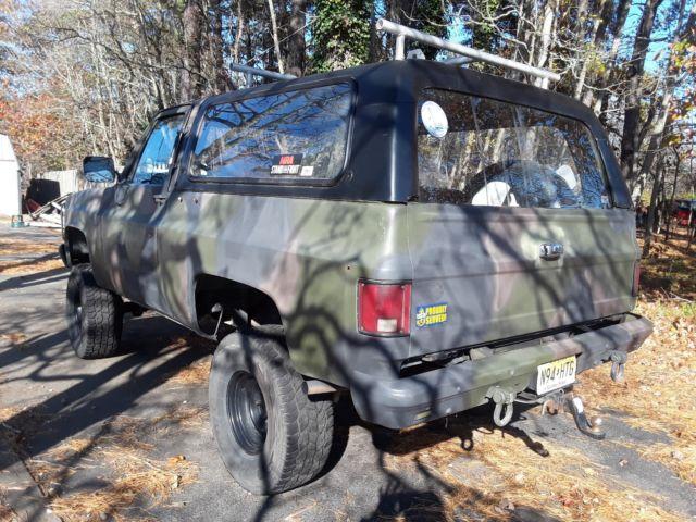 1985 Military K5 Blazer CUCV 1009 Detroit Diesel 20MPG! Low