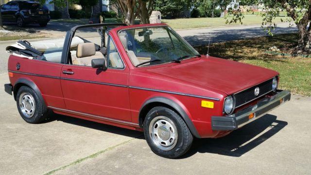 1985 volkswagen cabriolet 5spd manual wth 82k og miles classic rh mfpclassiccars com 1990 Volkswagen Golf 1986 Volkswagen Golf