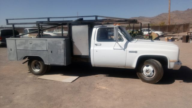 1986 Gmc Sierra 3500 Dually Utility Bed  Lumber Rack  305