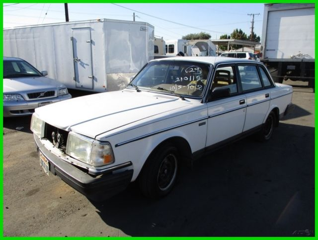 1986 Volvo 240 DL Used 2 3L I4 8V Automatic NO RESERVE