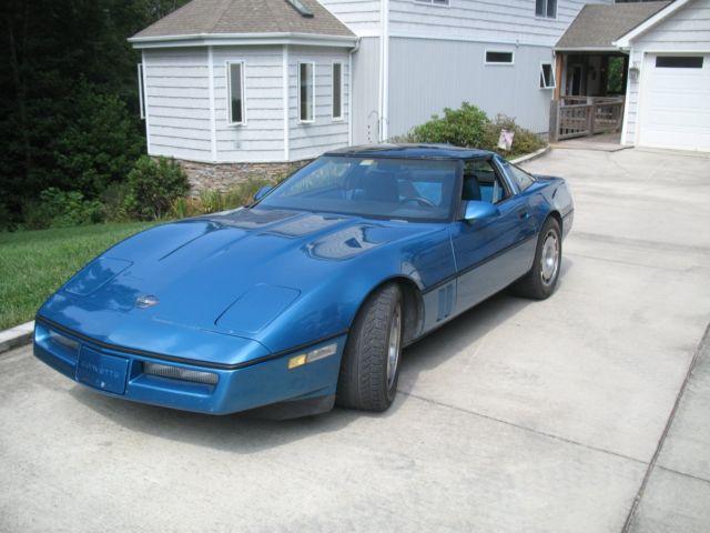 1987 corvette metallic blue hatchback coupe 5 7l l98 4 3 manual rh mfpclassiccars com 1992 Corvette 1986 Corvette