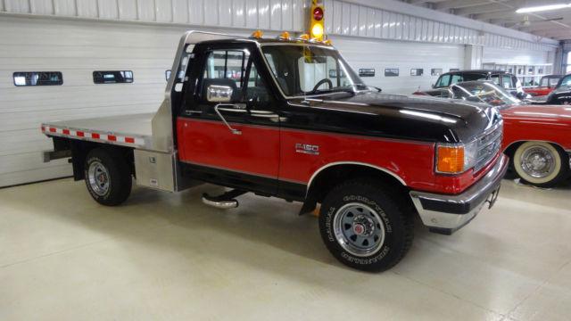 1988 ford f-150 4x4 xlt lariat 163057 miles red / black pickup i6 4 9l  manual 5-